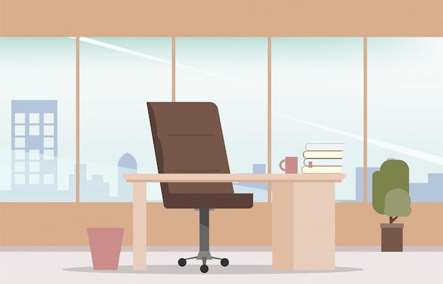 Estilo moderno do interior do local de trabalho do quarto do escritório.