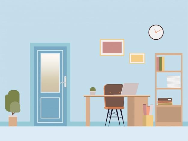 Estilo moderno do projeto interior da sala do escritório.