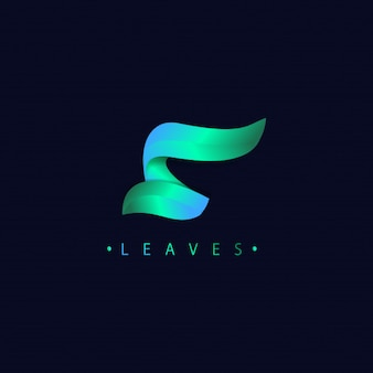 Estilo moderno dos inclinações do logotipo da letra s 3d