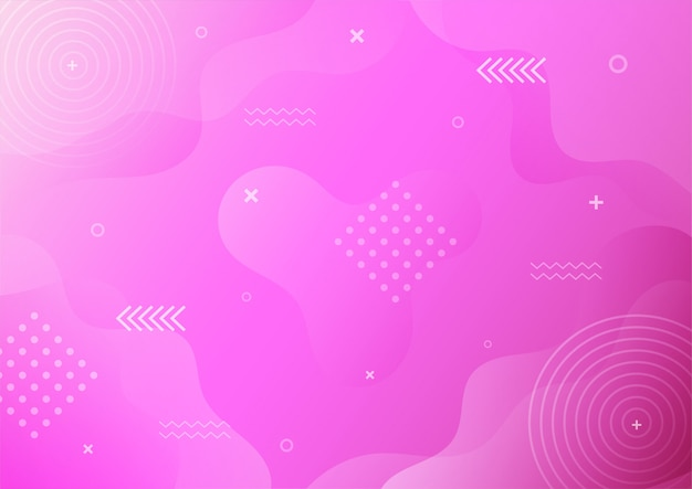 Estilo moderno roxo gradiente memphis abstrata com fundo geométrico.