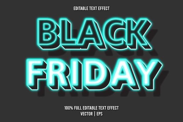 Estilo néon com efeito de texto editável black friday