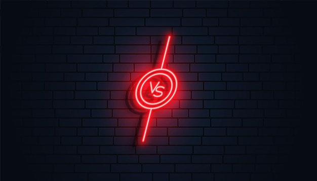 Estilo neon versus design de banner