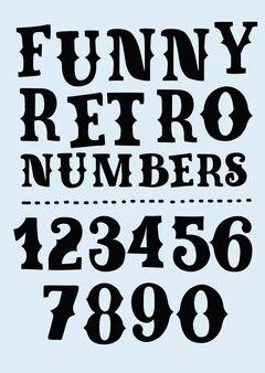 Estilo ocidental retro distressed letras números e símbolos em um escuro