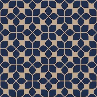 Estilo oriental abstrato geométrico sem costura padrão floral