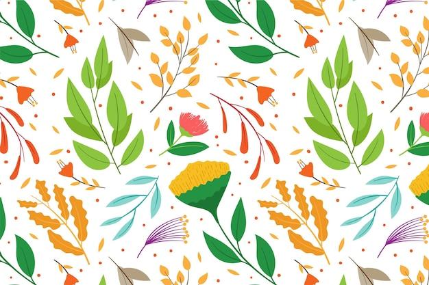 Estilo padrão floral colorido