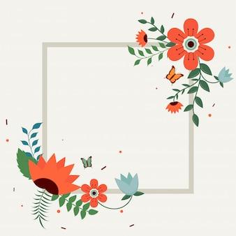 Estilo plano bela flor decorado fundo