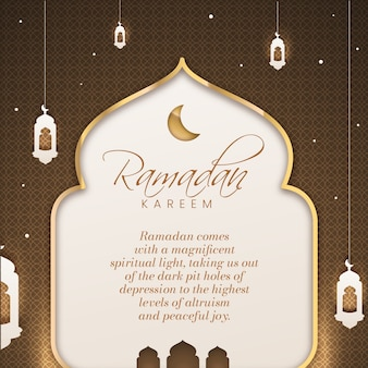 Estilo plano de celebração do ramadã