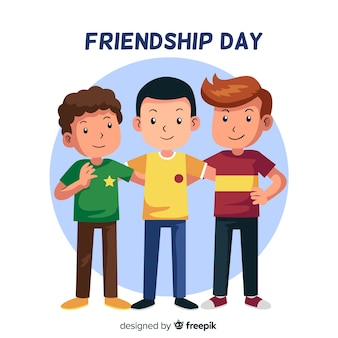 Estilo plano de fundo de dia de amizade