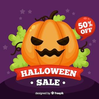 Estilo plano de fundo de venda de halloween