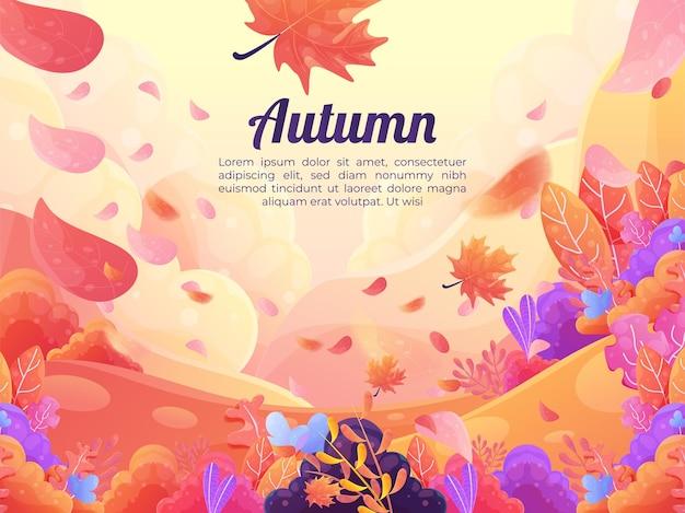 Estilo plano de fundo decorativo de outono