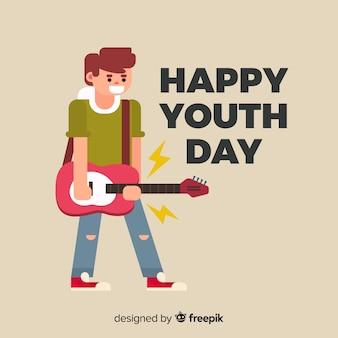 Estilo plano de fundo do dia da juventude