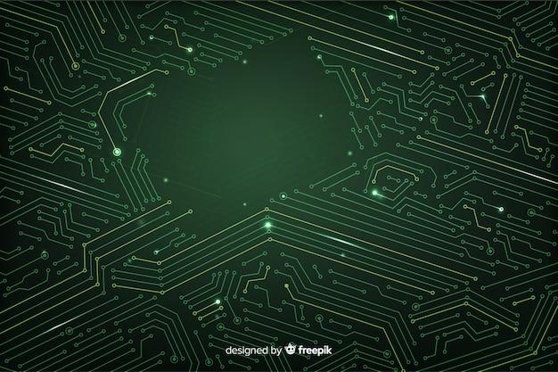Estilo plano de plano de fundo da placa de circuito
