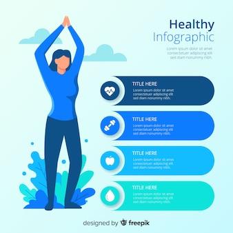 Estilo plano de saúde infográfico modelo