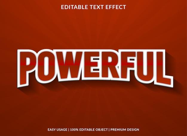 Estilo premium de efeito de texto editável poderoso