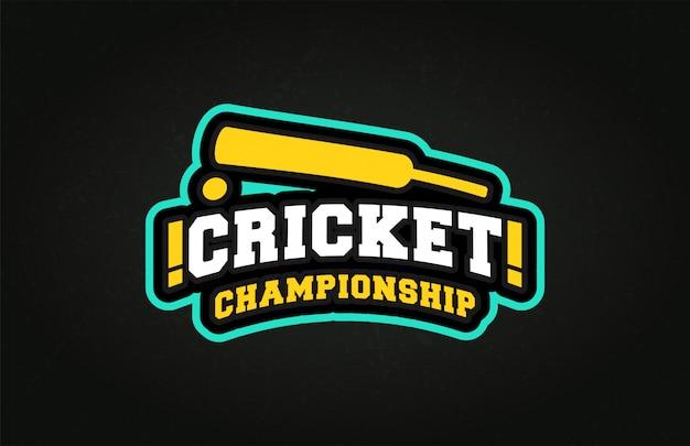 Estilo profissional de super herói de esporte de críquete de tipografia profissional moderno