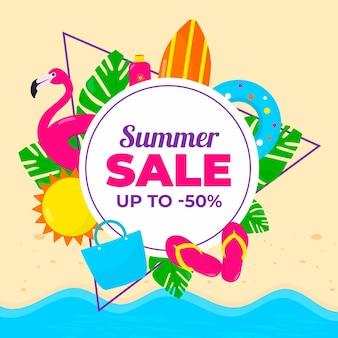 Estilo promocional de venda de verão
