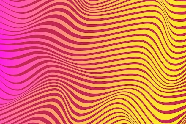 Estilo psicodélico de fundo de ilusão de ótica