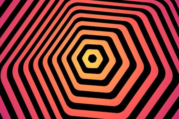 Estilo psicodélico de ilusão de ótica de fundo