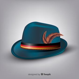 Estilo realista de chapéu clássico oktoberfest fundo