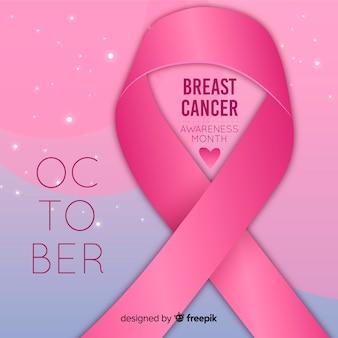 Estilo realista de conscientização de câncer de mama
