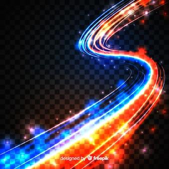 Estilo realista de efeito de luz de curva