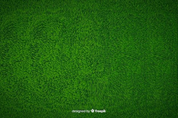 Estilo realista de fundo de grama verde