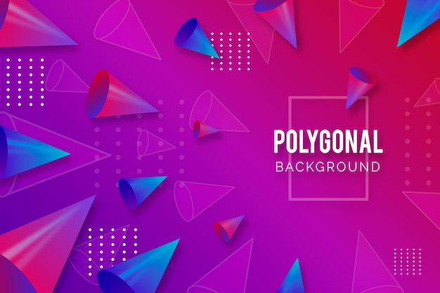 Estilo realista de fundo poligonal