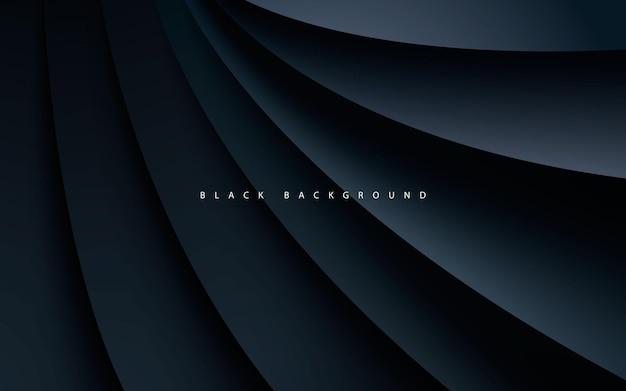 Estilo realista de fundo preto de dimensão abstrata