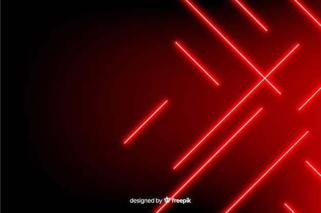 Estilo realista de fundo vermelho luzes geométricas