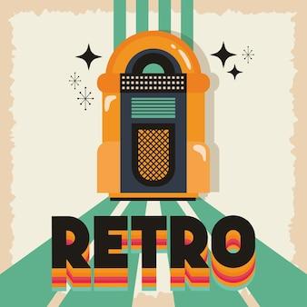 Estilo retro com design de ilustração vetorial de jukebox de música
