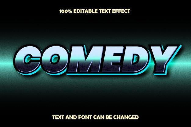 Estilo retro com efeito de texto editável de comédia