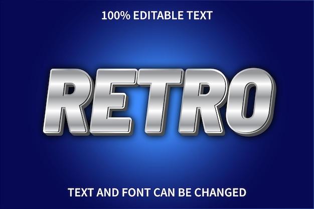 Estilo retro com efeito de texto editável retro