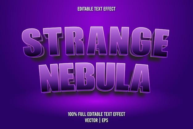 Estilo retro de efeito de texto editável de nebulosa estranha