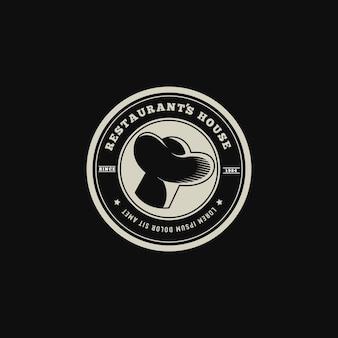 Estilo retrô de logotipo de restaurante