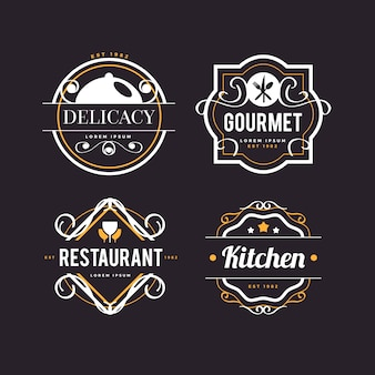 Estilo retrô para o logotipo do restaurante