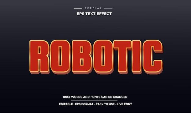Estilo robótico com efeito de texto editável