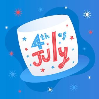 Estilo simples 4 de julho evento