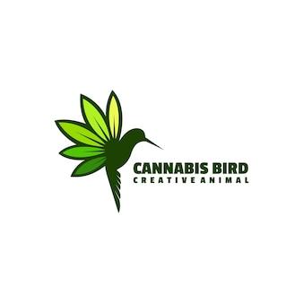Estilo simples da mascote da ilustração do logotipo do pássaro.