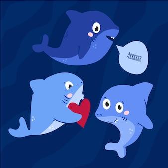 Estilo simples de bebê tubarão
