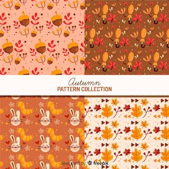 Estilo simples de coleção outono padrão
