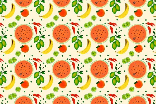 Estilo simples de frutas e legumes