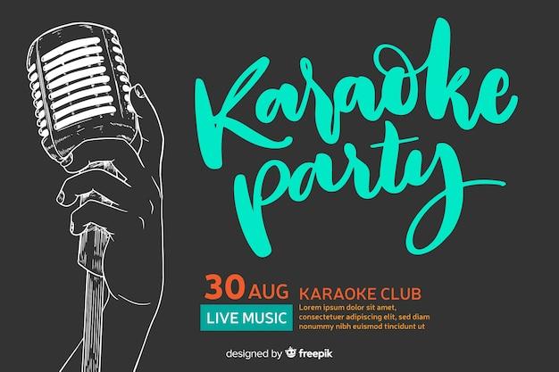 Estilo simples de modelo de banner de karaoke