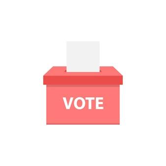 Estilo simples do ícone caixa de votação Vetor Premium