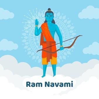 Estilo simples para evento de navami ram