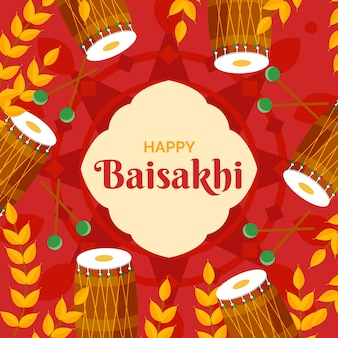 Estilo simples para feliz evento baisakhi