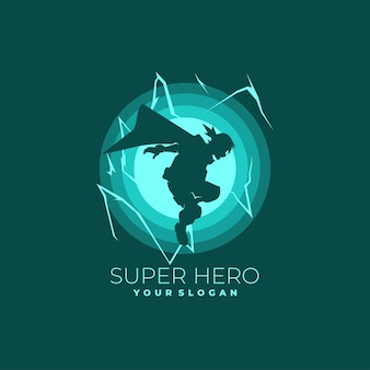 Estilo super-herói de logotipo escuro
