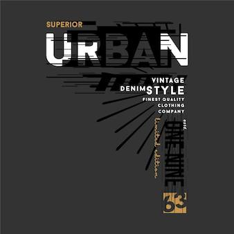 Estilo urbano ilustração gráfica tipografia vetor bom para impressão de camiseta