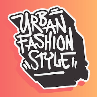 Estilo urbano moda street wear 90s design relacionado a roupas casual