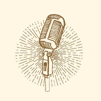 Estilo vintage de microfone