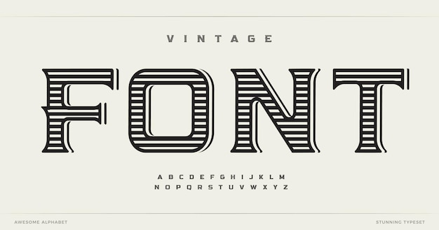 Estilo vintage letras do alfabeto fonte logotipo ocidental tipografia artesanal design tipográfico antigo